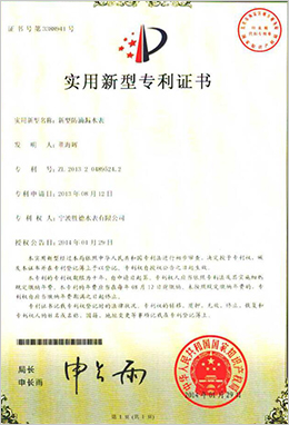 实用新型专利证书-新型防滴漏水表
